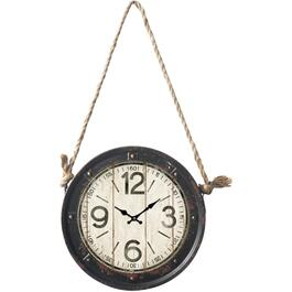 "11"" Round Hydra Wall Clock, with Rope thumb"