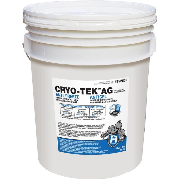 Hercules 18 9L Cryo-Tek Concentrated Antifreeze for Heating