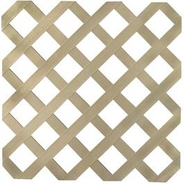 4' x 8' Khaki Classic Ultra Light Vinyl Lattice thumb