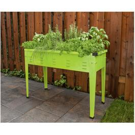 "39.5"" Metal Green Raised Garden Planter thumb"