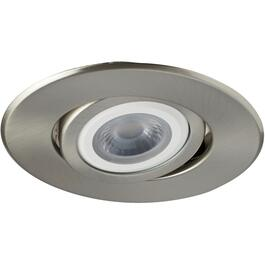 "4"" 8W Brushed Nickel LED Fixture and Trim Combo Kit thumb"