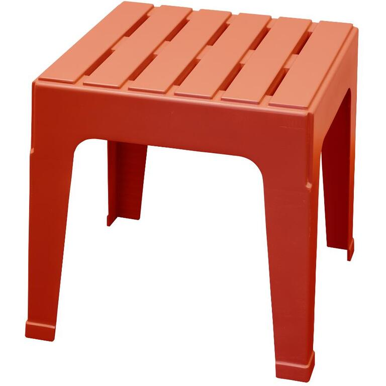 ADAMS:Red Big Easy Resin Stack Side Table