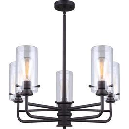 Albany 5 Light Oil Rubbed Bronze Finish Chandelier Light Fixture thumb