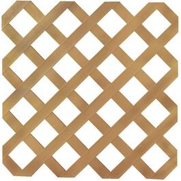 4' x 8' Cedar Classic Ultra Light Vinyl Lattice thumb