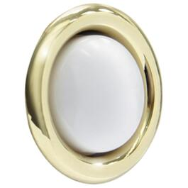 Lighted Wired Round Gold Doorbell Push Button thumb