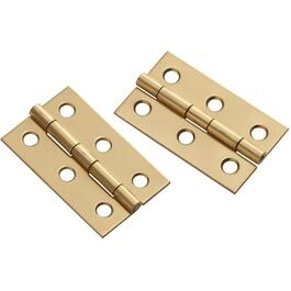 "2 Pack 2"" x 1-3/16"" Brass Medium Hinges thumb"