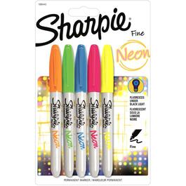 5 Pack Neon Permanent Markers thumb