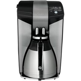 12 Cup Black/Brushed Stainless Steel Coffee Maker, with Thermal Carafe thumb