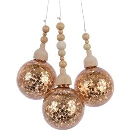 Glass Gold 3 Bauble Bundle, Assorted Styles thumb