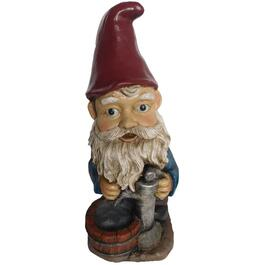 Gnome with Pump Lawn Ornament thumb