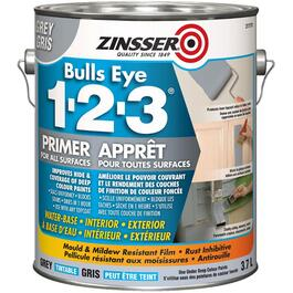 3.78L 1-2-3 Bulls Eye Latex Grey Primer Sealer thumb