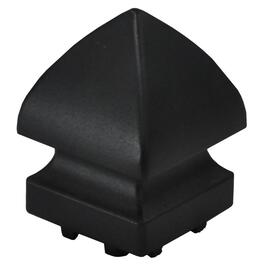 Black Aluminum Pyramid Railing Post Cap thumb