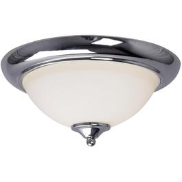 "13"" Astro Chrome Flushmount Fixture with White Glass Shade thumb"
