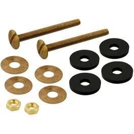 "1/4"" x 2-1/2"" Brass Plated Toilet Bolt Set thumb"