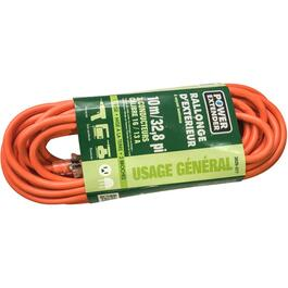 10M SJTW 16/3 Orange Extension Cord with Light thumb