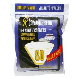 40 Pack White #4 Cone Coffee Maker Filters thumb