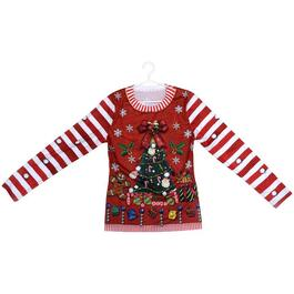 Red Ladies Ugly Christmas Sweater, Assorted Sizes thumb