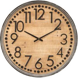"24"" Round Wood Wall Clock thumb"