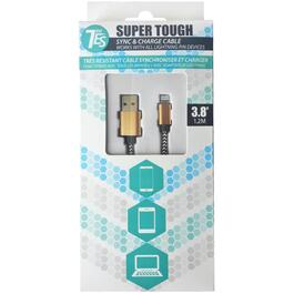 3.8'/1.2M Super Tough Sync and Charge Lightning Cable thumb