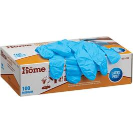 100 Pack Medium Blue 4mm Nitrile Gloves thumb