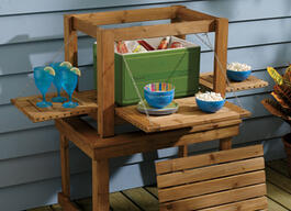 Outdoor beverage bar and nesting tables thumb