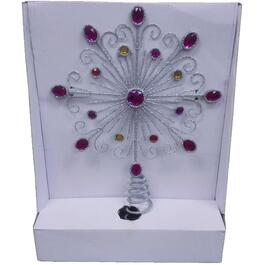 "12"" Snowflake Tree Topper, with Jewels thumb"