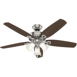 "Hinnman 52"" 5 Blade Brushed Nickel Ceiling Fan with LED Lighting thumb"