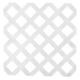 2' x 8' White Classic Ultra Light Vinyl Lattice thumb