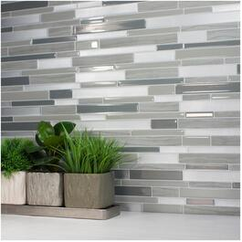 "6 Pack 11.55"" x 9.63"" Milano Grigio Peel and Stick Tiles thumb"