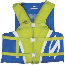 Blue/Green Oversized Adult Classic Nylon PFD thumb