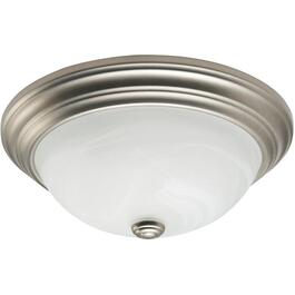 "13"" Pewter Marble Glass Flush Light Fixture thumb"