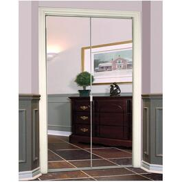 "36"" x 80"" Frameless White Mirror Bifold Door thumb"