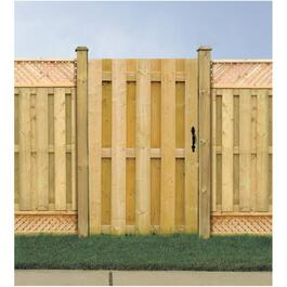 4' Pressure Treated Board On Board Gate Fence Package thumb
