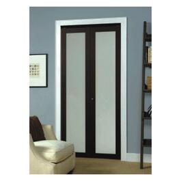 "36"" x 80"" Erias Frosted Glass Espresso Bifold Door thumb"