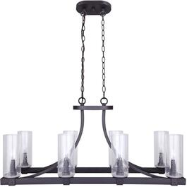 Nash 8 Light Oil Rubbed Bronze Chandelier Light Fixture with Seeded Glass thumb