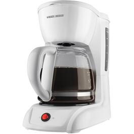 12 Cup White Basket Coffee Maker thumb