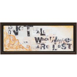 "12-1/4"" x 27"" Not All Who Wander Framed Wall Plaque thumb"