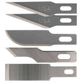 5 Pack #1 Hobby Knife Blades, Assorted Blades thumb