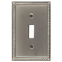 Pewter 1 Toggle Switch Plate thumb