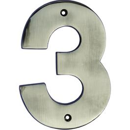 "5"" Antique Nickel '3' House Number thumb"