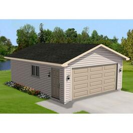 12' x 24' Gable Garage Package, with Complete Exterior Option thumb