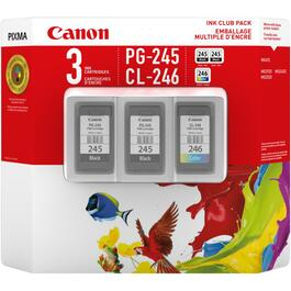3 Pack PG-245 & CL246 Club Pack Inkjet Cartridges thumb