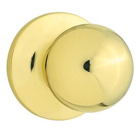 Brass Regina Safelock Passage Door Knobset thumb