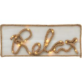 Wood/Rope Relax Battery Operated Wall Sign thumb