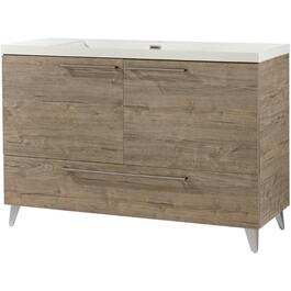 "48"" x 19"" Malea Silverwood 2 Door/1 Drawer Vanity thumb"