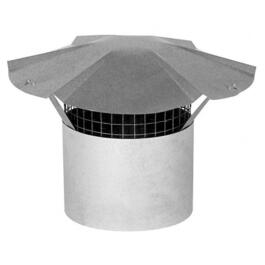 "3"" Galvanized Rain Cap, with Arrest thumb"