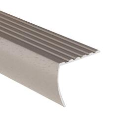 "1-3/8"" x 6' Hammered Silver Stair Nose Moulding thumb"
