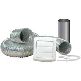 "4"" x 8' Louver Dryer Vent Kit thumb"
