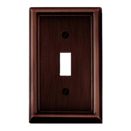 Estate Oil Rubbed Bronze 1 Toggle Switch Plate thumb