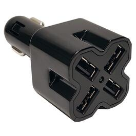 12V 6.4Amp Black DC USB Adapter thumb